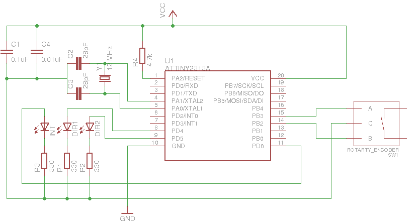 Rotary Encoder Schematic